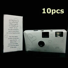 10 x 36exp HEARTS DISPOSABLE WEDDING Bridal CAMERA WITH FLASH 35mm