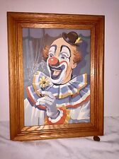 Crazy Clown Painting Paint By Numbers Creepy Clown Oak Frame