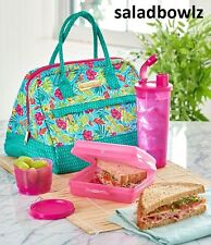 TUPPERWARE New TROPICAL GLAMOUR LUNCH SET Sandwich Snack Cup Tumbler fREEsHIP