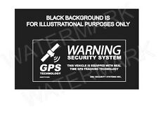 4 Automotive Car Truck SECURITY ALARM GPS Decal Stickers For TINTED Windows
