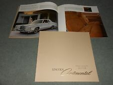 1978 LINCOLN CONTINENTAL HUGE 20 p. PRESTIGE CATALOG, 75th ANNIVERSARY BROCHURE