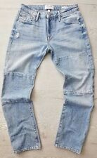 NEW Frame Denim Le Garcon Manhattan Patchwork Jeans Cropped Pant Jean Size 28