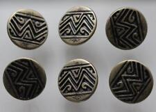 Rústico Bronce tono Azteca Inca Base De Metal Y Botones De 20mm inusual Zigzag