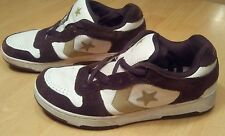Converse Brown & White Leather Suede Low Top Shoes Sneakers Mens 9 #1W287