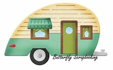 TRAVEL TRAILER CAMPING  Die Craft Steel Die Cutting Die Cottage Cutz CC-033 New