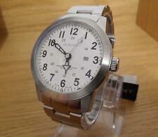 Mens XL Heavy Chunky Gant Time Brooklyn White Steel Analogue Date Watch GW10304