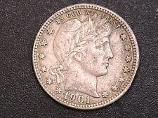 1901-O Barber Quarter FULL LIBERTY Reverse is a problem #6084