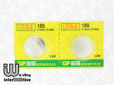 2 Pieces GP LR54 AG10  V10GA L1131 189 389A D189 Alkaline Button Cell Battery