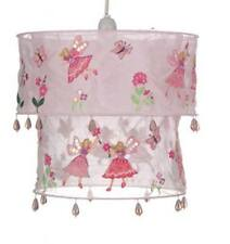 2 Tier Pink Fairy & Flower Beaded Ceiling Light Lamp Shade Hanging Girl Room New