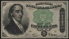 Fr1379 50¢ Fractional Currency Very Choice Cu Br6964
