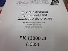 Palfinger PK 13000 Hydraulic Crane Spare Parts List Manual