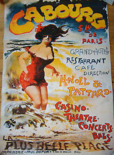 Vintage French Movie Poster - Cabourg - Paris - Woman Illustrated Image 321604