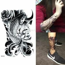Etanche Tattoo Tatouage Carpe Autocollant Temporaire Sticker Amovible Bras Art