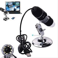 2MP 1000X 8 LED USB Digital Microscope Endoscope Zoom Camera Magnifier& Stand TR