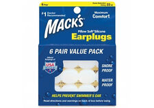 Macks Pillow Soft Silicone Earplugs x 6 Pairs