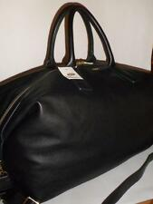UNUSED BLACK LEATHER Fossil PRESTON WEEKENDER DUFFLE Bag $378.00 ZB6611