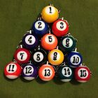 CHOOSE YOUR FAVORITE NUMBER -- BILLIARDS POOL KEY CHAIN