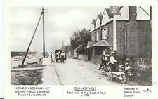 London Postcard - Old Northolt - Road Work at The 'Load of Hay' c1928  2364