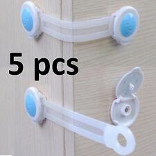 5 PCS KIDS CHILD TODLER BABY SAFETY CABINET DOOR FRIDGE DRAWER CUPBOARD LOCK