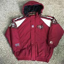 Vintage 90s San Fransisco 49ers Pro Line Starter Jacket Mens XL No Zipper Pull