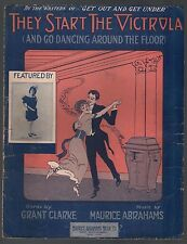 They Start The Victrola and Go Dancing Around the Floor 1914 Sheet Music