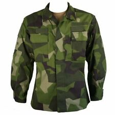 Genuine Issue Swedish M90 Camo Shirt Large-Long 45L