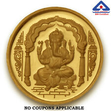 P.N.Gadgil BIS Hallmarked 10 gms, 24k (995) , Ganesha Om Gold Coin