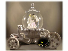 Disneyland Paris Snowglobe - Cinderella and Prince Charming - BNIB! + Map Coach