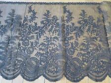 Beautiful Deep Antique Victorian Black Chantilly Lace Trim- 4.72 Meters