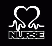 Nurse Heart Vinyl Car Window Decal Cardiac Love EMT LPN RN Work Sticker