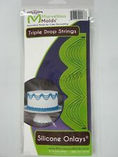 Marvelous Molds silicone onlay -Triple Drop Strings- fondant gum paste cake