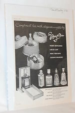 VINTAGE ADVERTISING EVYAN PARFUMS PERFUME AD TOWN & COUNTRY NOVEMBER 1961