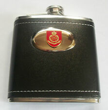 RMP (ROYAL MILITARY POLICE) HIP FLASK - plain or leatherette