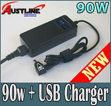 90W Universal Laptop AC Power Adapter + USB Charger 4 DELL IBM HP iPad