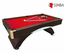 7 Ft Pool Table Billiard Playing Cloth Indoor Sports billiards table red Napoleo
