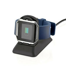 USB Power Charging Wire Cradle Dock Station Holder For Fitbit Blaze Smart Watch