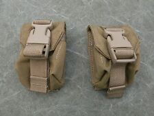 USMC MOLLE II Hand Grenade Pouches, Coyote Brown Lot of two (2) New