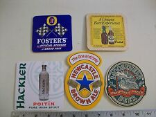 5 different Foreign Beer Coasters used nice shape Moosehead Fosters Grolsch etc