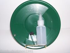"INTERNATIONAL SE 10"" PANNING GOLD PAN - GREEN, SNIFFER, VIAL"