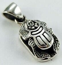 EGYPTIAN SCARAB BEETLE 925 STERLING SILVER PENDANT FOR NECKLACE / BRACELET CHARM