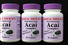 ACAI BERRY complex Dietary Supplement Antioxidant Wild Harvested Lot of 3