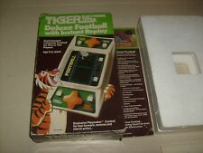 TIGER  DELUXE FOOTBALL Handheld ELECTRONIC GAME BOX W / INSERT