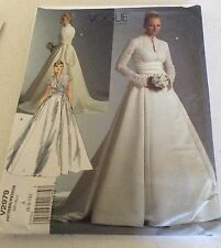 Vogue Pattern 2979 Bridal Original Wedding Dress / Gown & Sash  MISSES SZ 6-10