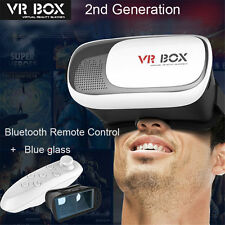 VR BOX Google Cardboard Virtual Reality 3D Glasses Bluetooth Control For Phone