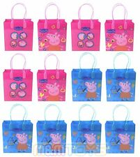 12x Nick Jr. Peppa Pig Birthday Party Favors Goody Loot Gift Candy Bags -Mirage-
