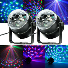 2x RGB Magic Rotating Ball Effect Led Stage Lights Party Club Bar Disco DJ Hot