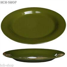 MFH Campingteller Suppenteller Kunststoff Melamin bruchsicher Ø 25 cm oliv