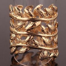 Attractive Design Woman 14k Gold Filled US size 8.5 Leaves Ring Jewelry C146