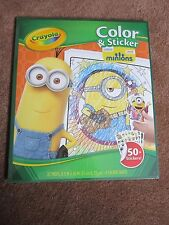 Minions Activity Coloring & Sticker 50+ Stickers! 32 pages Crayola NEW Sealed