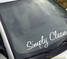 simply clean Frontscheibenaufkleber clean sticker fender fuck dapper decal 191